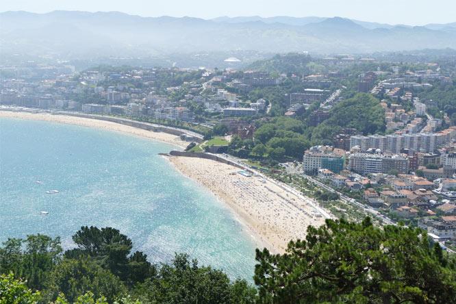 belle plage côte basque près camping ametza