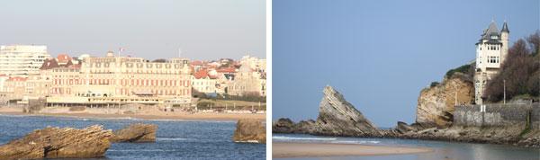 bord de mer Biarritz près camping ametza