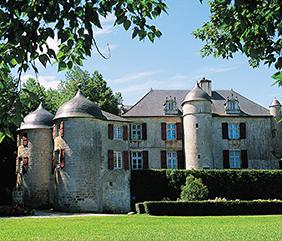 camping proche du chateau d'Urtubie