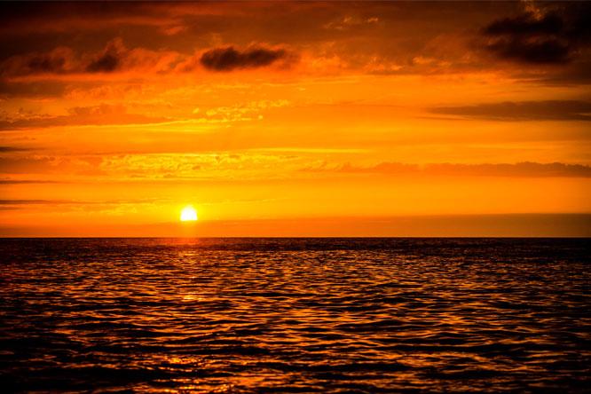 coucher de soleil près camping ametza