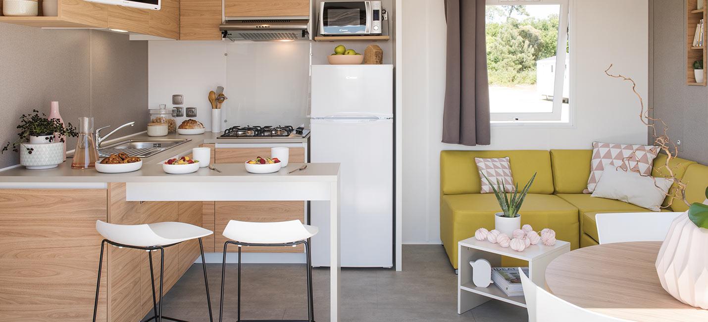 camping avec mobile home équipé au pays basque
